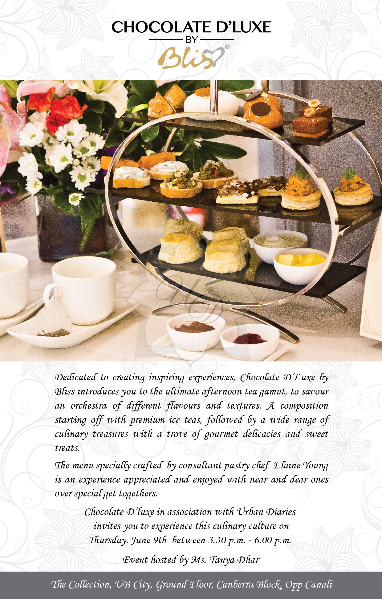 Chocolate D'Luxe by Bliss introduces its Afternoon Tea Experience