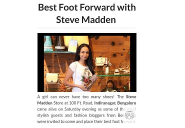 Best Foot Forward with Steve Madden