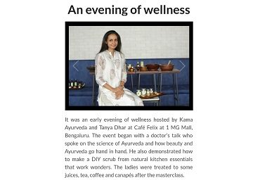 Masterclass on Skincare For This Festive Season With Kama Ayurveda