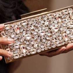 The Striking Bcase Di Champagne Clutch from Dune London